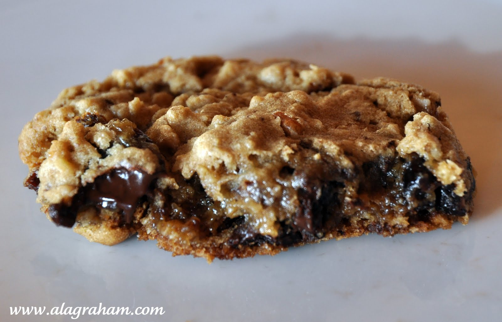... GRAHAM: CHOCOLATE CHUNK OATMEAL COOKIES WITH PECANS AND DRIED CHERRIES