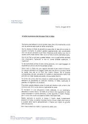 """""""A tutte le persone del Gruppo Fiat in Italia"""""""