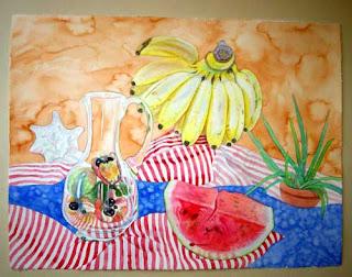Acuarela 56x76 de la serie Frutos de mi tierra