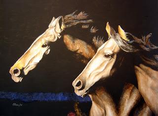 acuarela de caballos