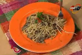 espaguetis champiñon