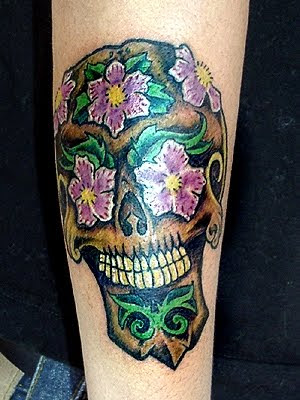 Custom Groom Sugar Skull Tattoo by Mikey Slater