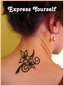 upper back tattoos henna with flower tattoo designs. Black Bedroom Furniture Sets. Home Design Ideas