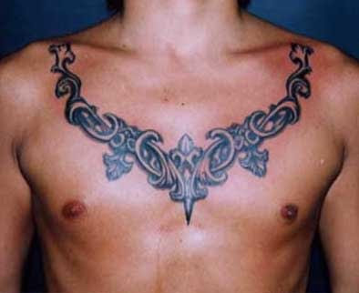 chest tattoo quotes for men. star tattoos for men on chest.