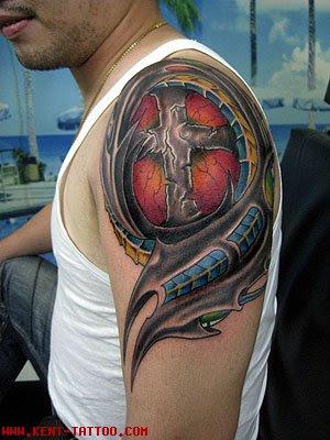 cool cross tattoos for men on shoulders