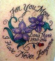 in memory tattoos, mom tattoos
