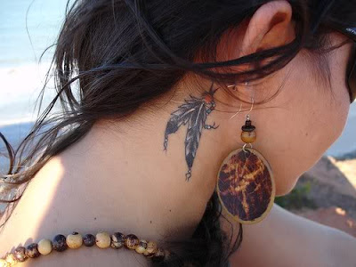 native american indian tattoo dreamcatcher with feather · Native American