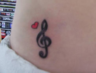 Girl Tattoo Designs on Tribal Tattoo  Small Treble Clef Tattoo Designs For Girls