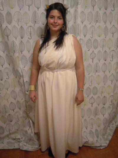 Homemade greek goddess costume for kids greek god or goddess
