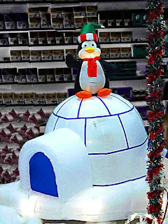 A penguin on an igloo for Christmas