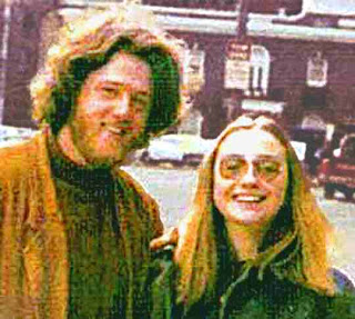 Bill Clinton and Hillary Clinton in their youth