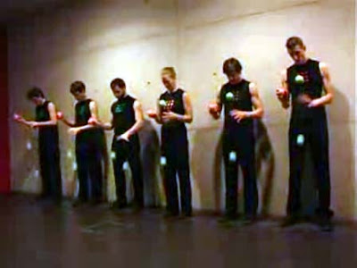 Steve Reich's Clapping Music performed by jugglers