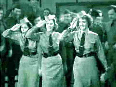 saluting Andrews Sisters sing Boogie Woogie Bugle Boy in Buck Privates
