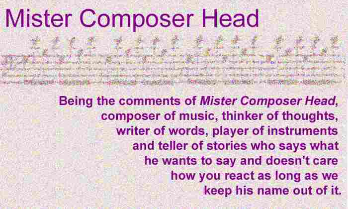 header to the blog of Arthur Jarvinen called Mister Composer Head