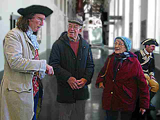 Ben & Marion Shuman with costumed actors Constitution Hall 2004