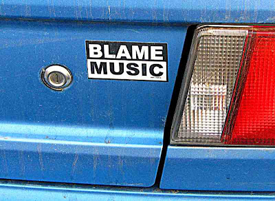Blame Music bumper sticker (c) David Ocker