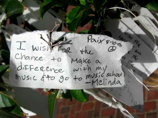 Yoko Ono Wish Trees Pasadena CAmusic school
