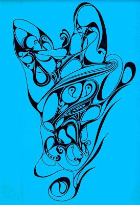 Blue Doodle 4 (c) David Ocker
