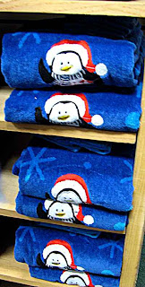 Christmas Penguin towels