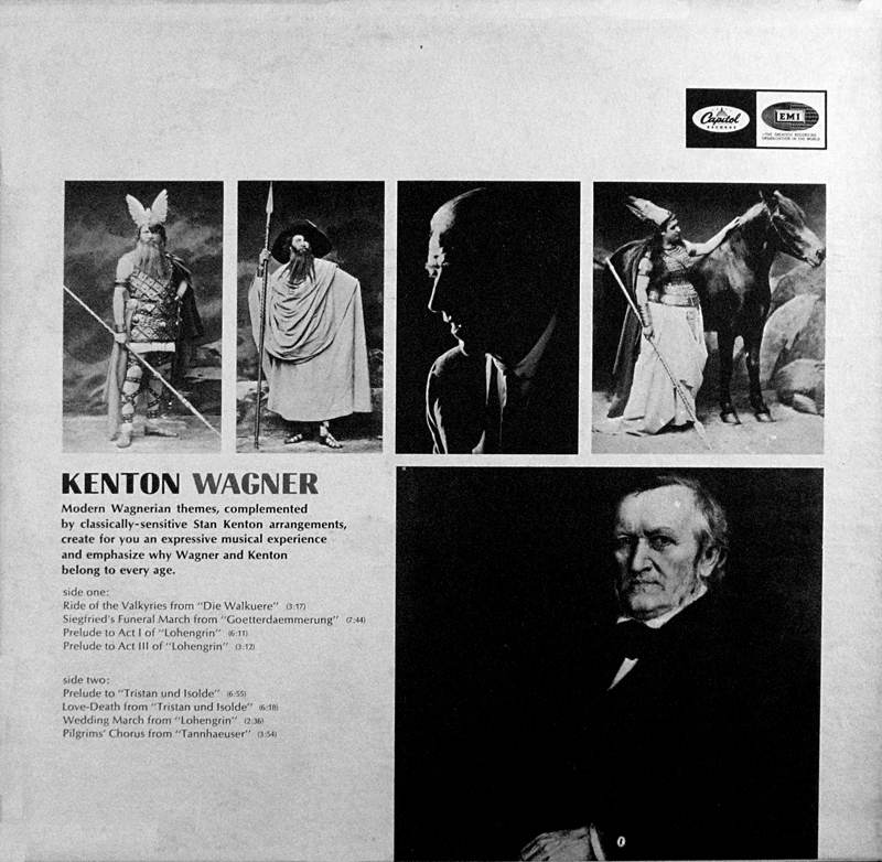 Stan Kenton plays music of Richard Wagner - back cover