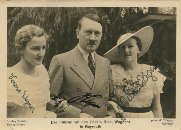 Adolf Hitler with Richard Wagner's granddaughters