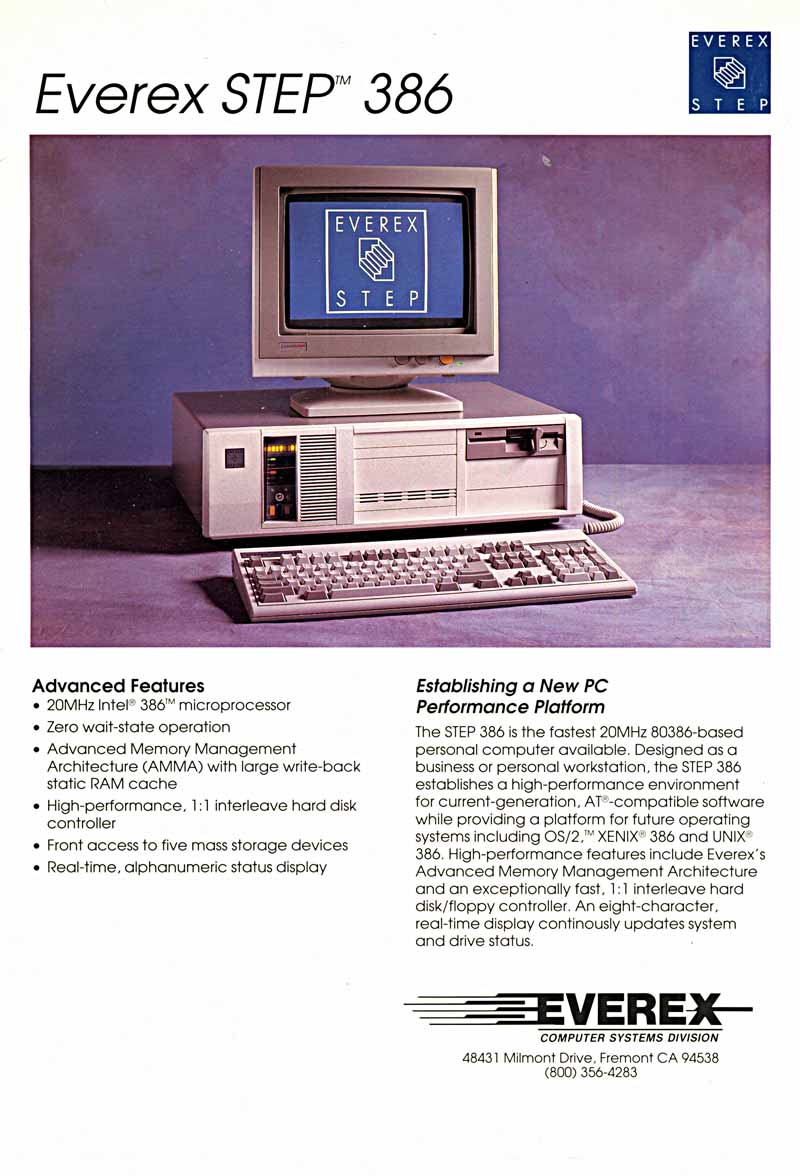 Everex Step 386 computer advertisement