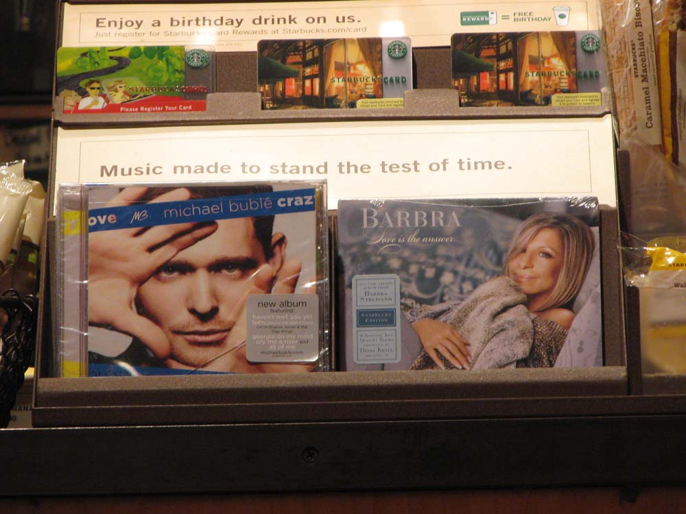 Music Made to Stand the Test of Time - Michael Buble and Barbra Streisand - at Starbucks