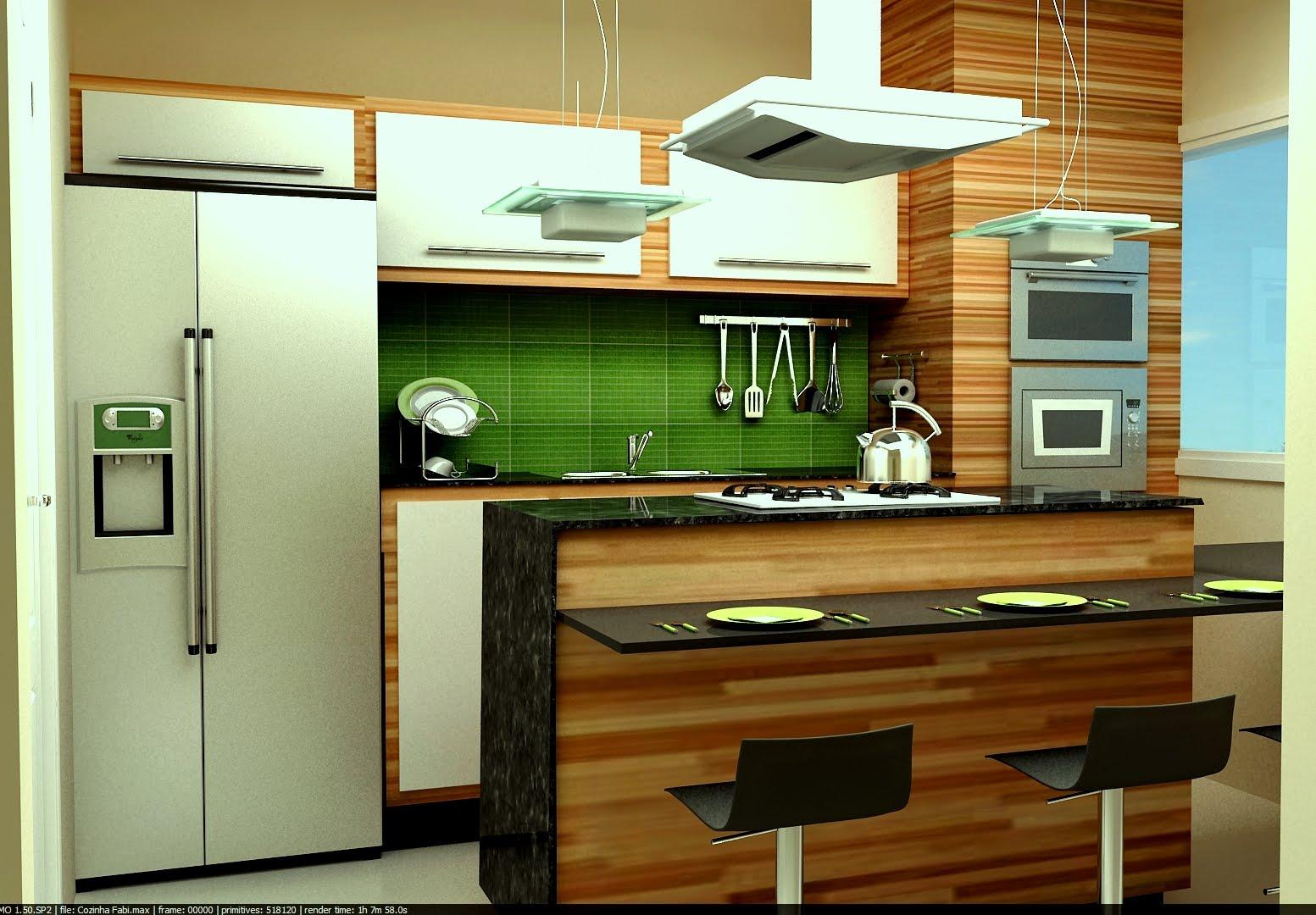 #6B3E0F AVIZ DESIGN DE INTERIORES: Cozinha Projetada no Studio Max 1553x1080 px Modelo De Cozinha Design_501 Imagens