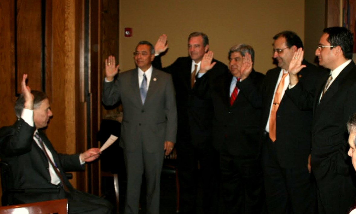 HRC members being sworn in by Attorney General Abbott