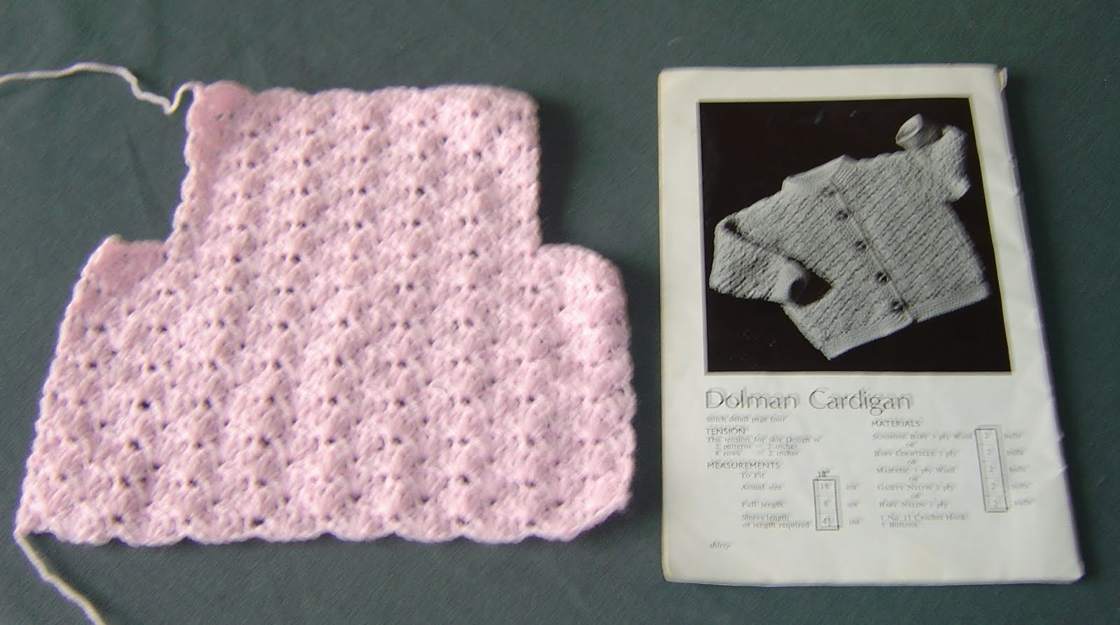 One Piece Crochet Baby Sweater Pattern Free: Tunisian crochet baby ...