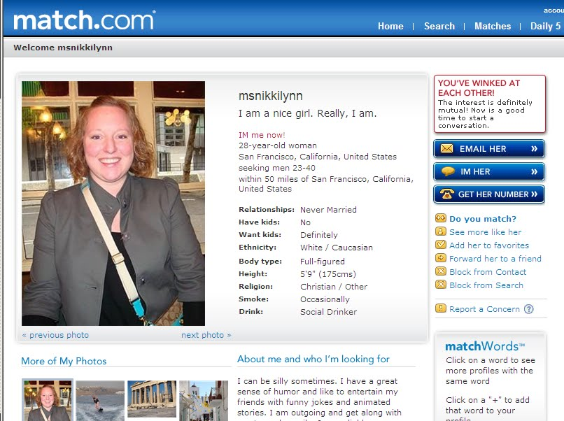 Examples of good dating site profiles