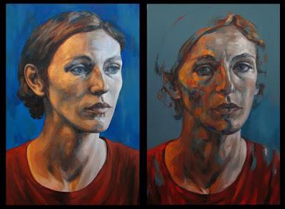 cuadro selecionado premio pintura BMW 2008 retrato Lucie geffre
