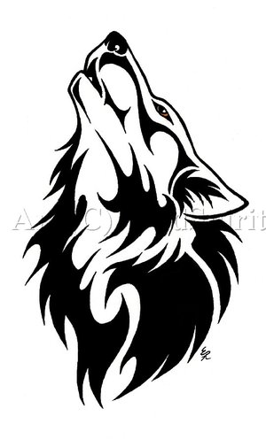 This wolf tattoo is having a spiritual and powerful mythological meaning.