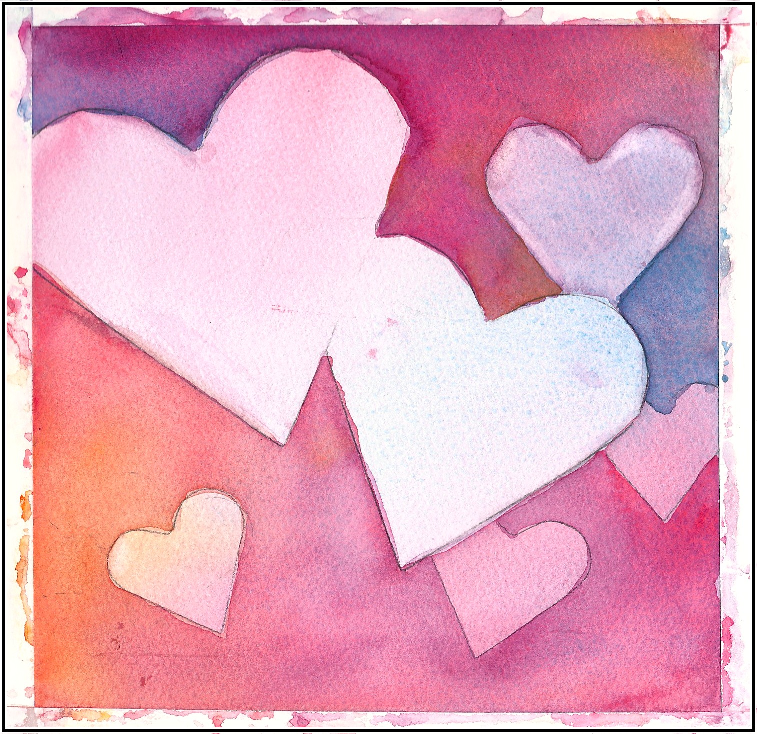 Art in my heart jacqueline newbold give your loved ones for Easy watercolour projects