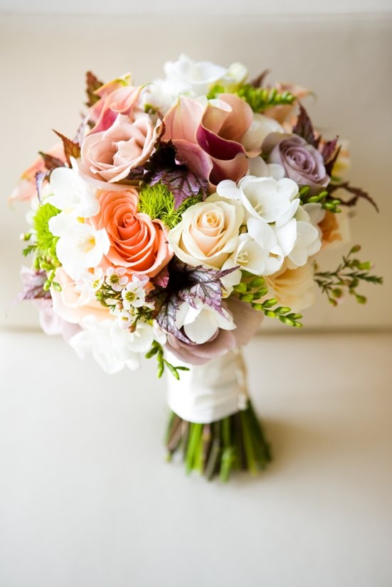 Bridal Bouquet With Color : Flora nova design the real wedding candace and don