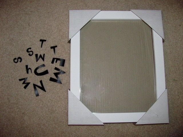 Menu board letters white for Davson quartet letter board