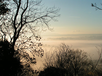 mist view of bridgnorth