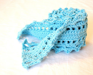 lace scarf crocheted image