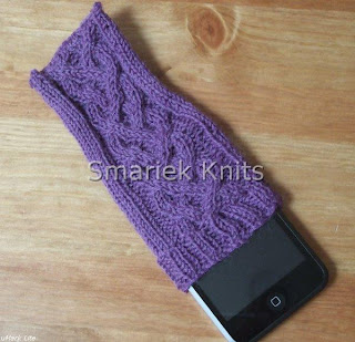 Preview This Free Knitting Pattern: Four Rib Braid iPod Touch Sock