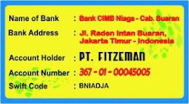 Rek. Bank PT. Fitzeman: