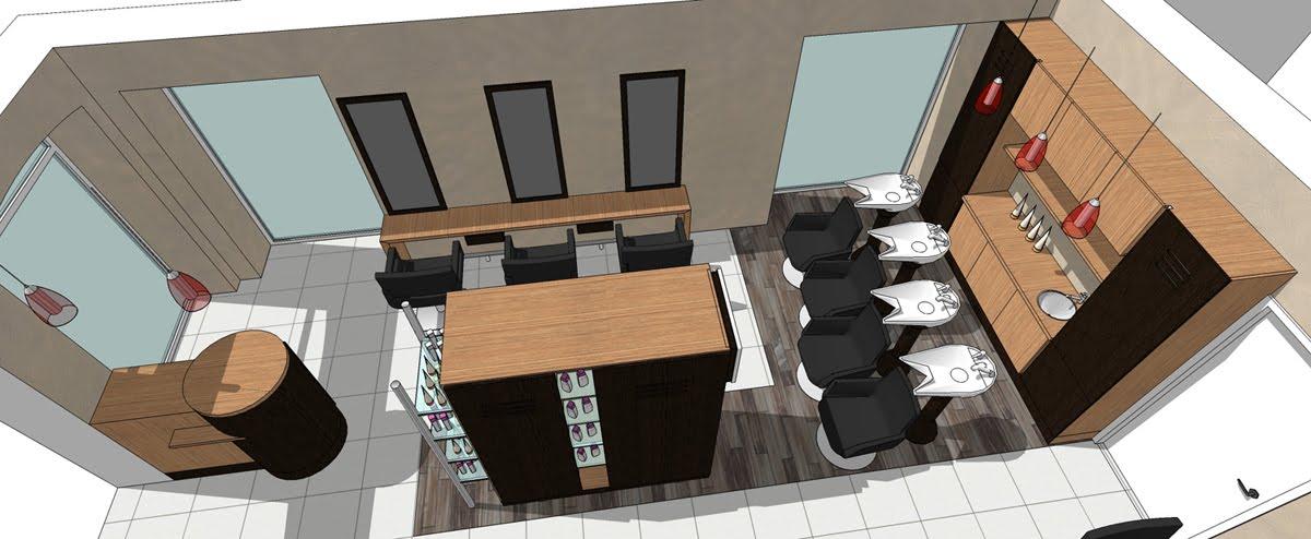 A l\'Ouest: Rénovation d\'un salon de coiffure à La Chapelle sur ...