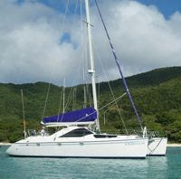 Charter catamaran Amaryllis with ParadiseConnections.com