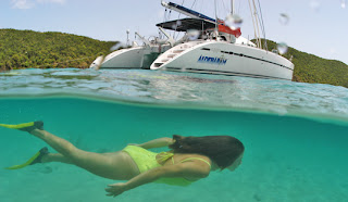 Charter catamaran Aldebaran to sail & dive the BVI - Contact ParadiseConnections.com