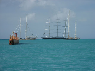 Maltese Falcon again in St Maarten Feb 2009 - c2009 ParadiseConnections.com Yacht Charters