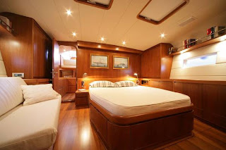 Matelot's full-width master cabin. Contact ParadiseConnections.com to plan your sailing vacation.