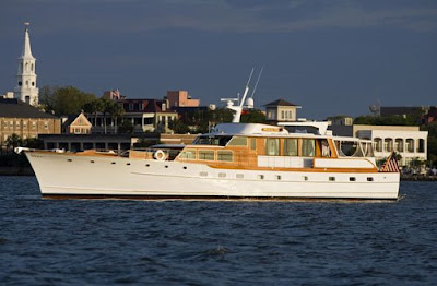 Charter the classic Trumpy motor yacht WISHING STAR in New England this summer with Paradise Connections Yacht Charters