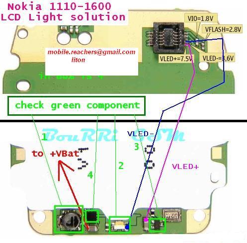 1600 light problem. 1110-1600 LCD Light problem