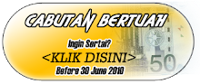 CONTEST! : CABUTAN BERTUAH, MENANGI RM50!