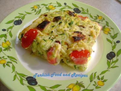 Zucchini Breakfast Casserole (Firinda Kahvaltilik Kabak)