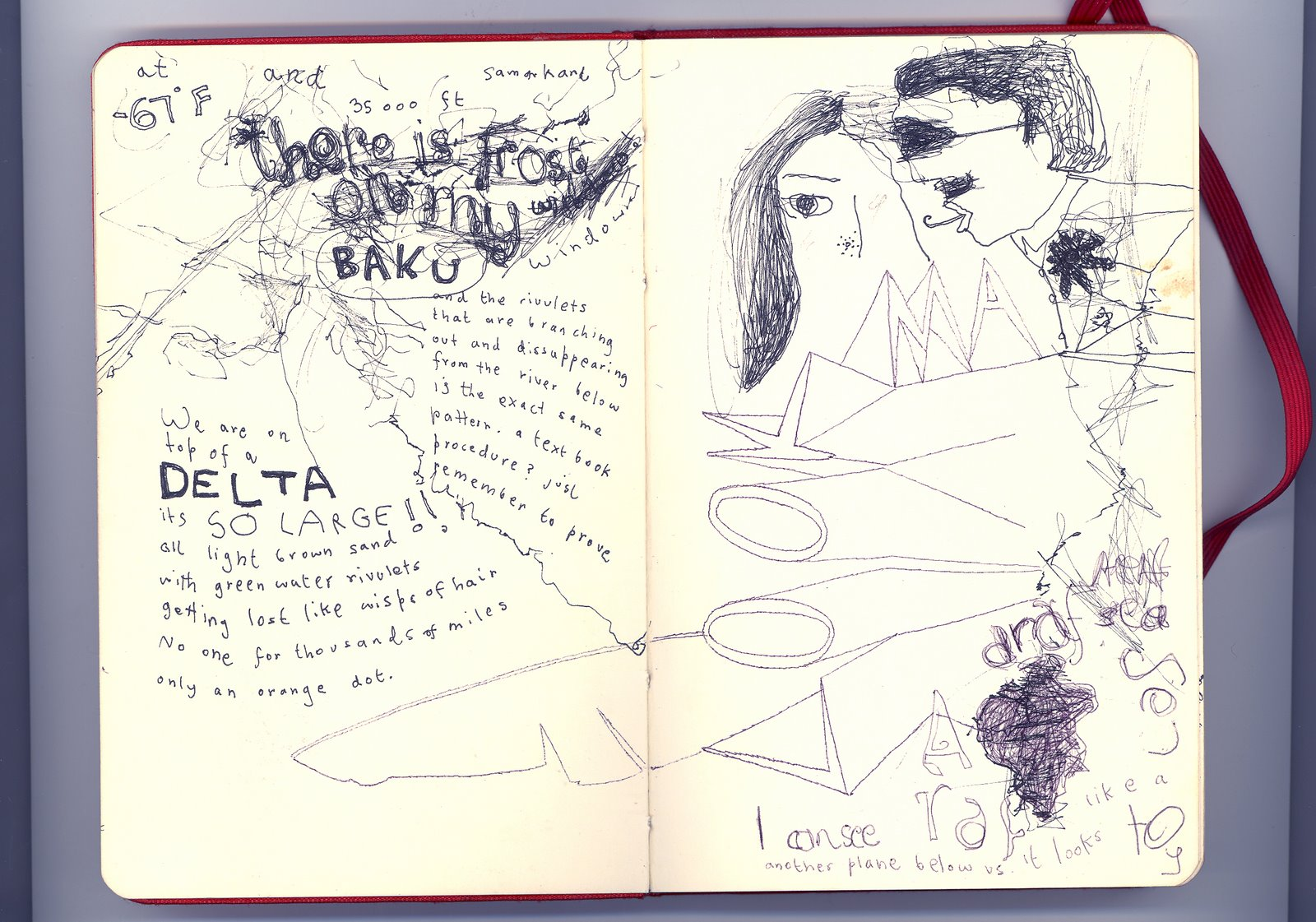 sketch book spreads